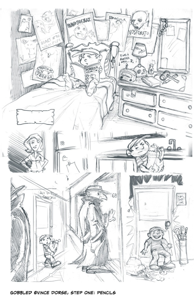 4-page story about Abraham Plotz, a kid who hunts vampires